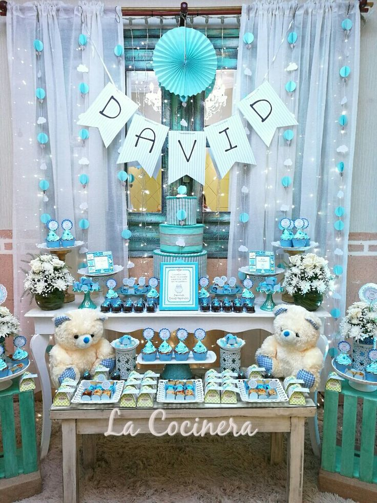 549 best celebraciones de la cocinera images on pinterest - Mesa de baby shower nino ...