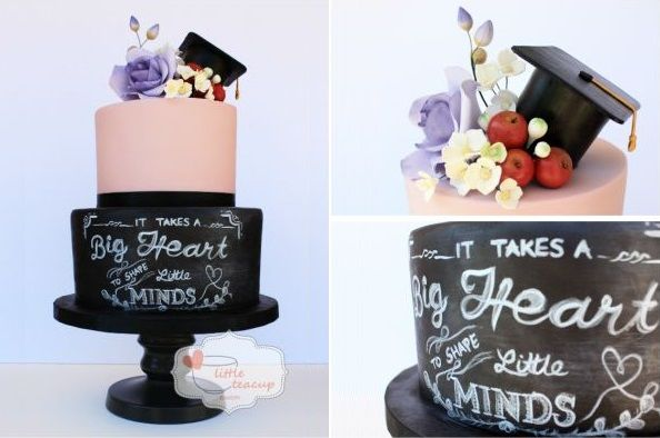 Graduation Cakes on Cake Geek Magazine (chalkboard cake by Jen's Little Teacup Bakery). See the full collection of graduation cakes here: http://cakegeek.co.uk/index.php/graduation-cakes/