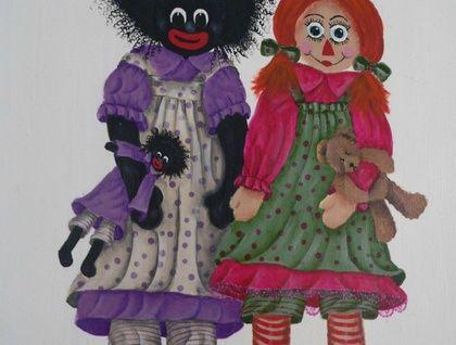 Miss Golly and Raggedy Ann print