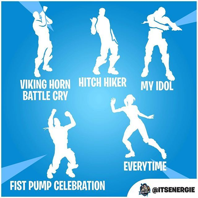 All the leaked emotes found in the game files! #fortnite