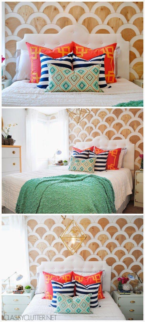 Um projeto incrível com madeira compensada para a parede da sua cama (e para outras paredes também!) | Um lar para Amar - Blog de decoração.