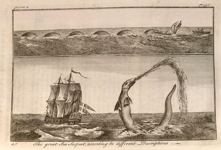 Erik Pontoppidan | Sea serpent | Versuch einer natürlichen Geschichte Norwegens [The Natural History of Norway] (1752-1753)