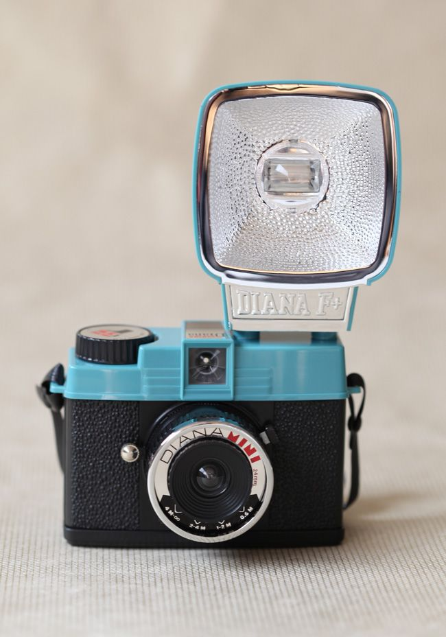 Mini Diana & Flash Set In Blue By Lomography 99.99 at shopruche.com. Shoot gorgeous half-frame or square photos with this adorable Mini Diana