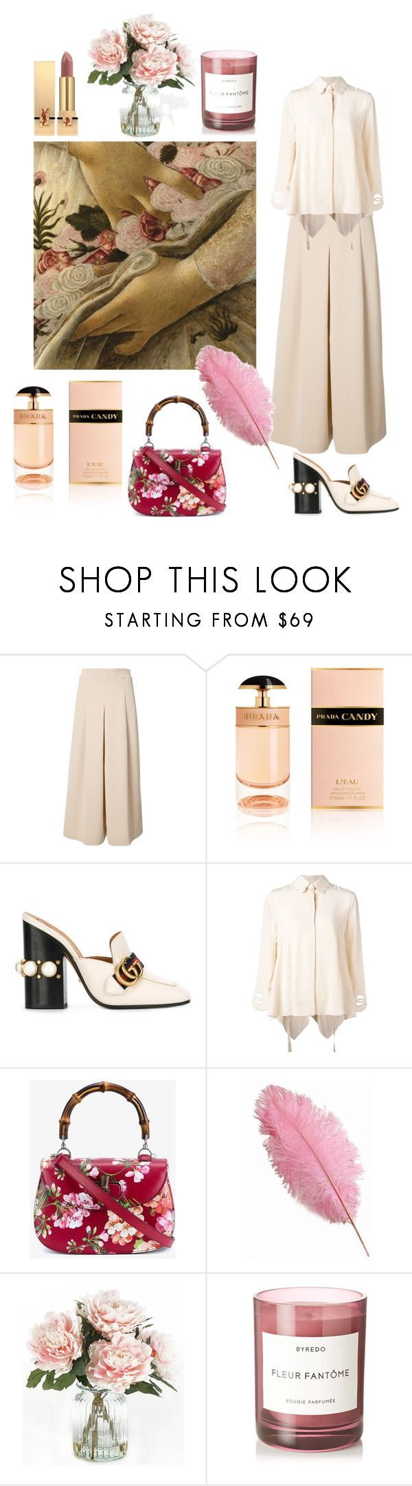 """Spring shades"" by whoisdada on Polyvore featuring bellezza, TIBI, Prada, Gucci, Fendi, Home Decorators Collection, Byredo e Yves Saint Laurent"
