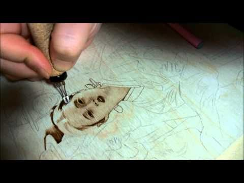 Pyrography art by jean bouick(Process of slow speed) (+playlist)