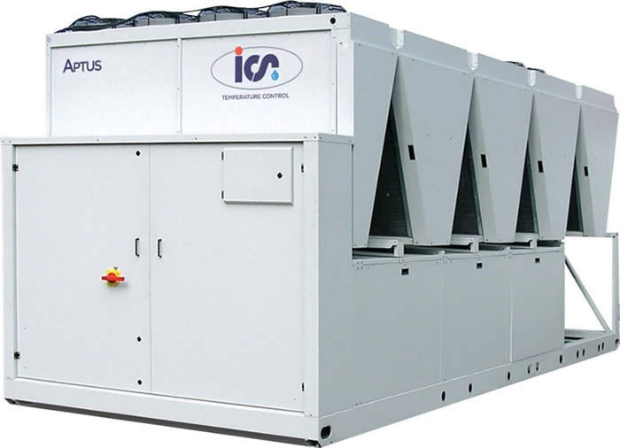 Air Cooled Scroll Industrial Chiller;  This range of air and water cooled chillers provides the latest in cooling technology, thanks to the use of innovative, maintenance free hermetic scroll compressors.