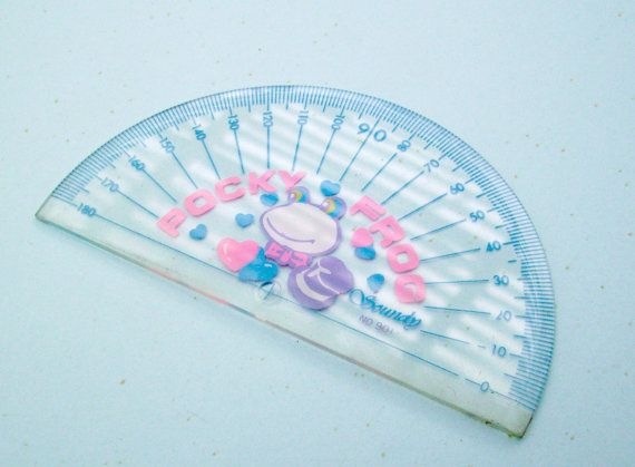 Pocky Frog Ruler. 80s Soundy Ruler. Clear Plastic by JirjiMirji, €9.20