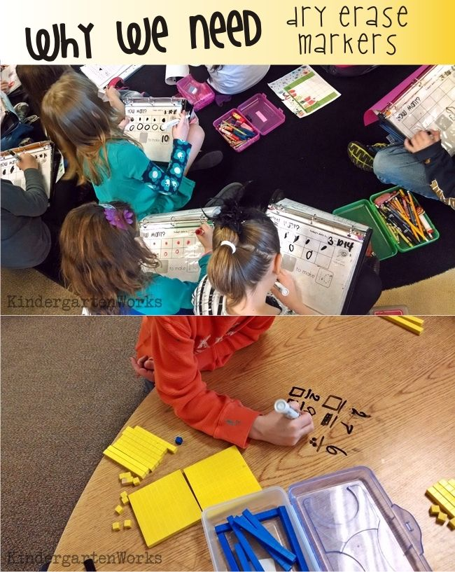 Kindergarten School Supply List :: KindergartenWorks - Dry erase markers - so handy! Wish they lasted waaaay longer in general or were indestructible {ha!}