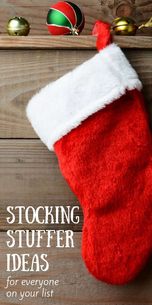 Stocking Stuffer Ideas For Everyone On Your List - Husband, wife, son, daughter. You'll love these creative, thoughtful ideas for making their Christmas stockings special on Christmas morning!