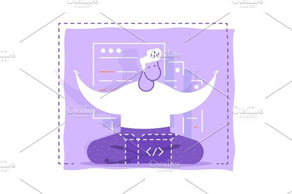 Programmer meditates by Artur Stotch on @creativemarket
