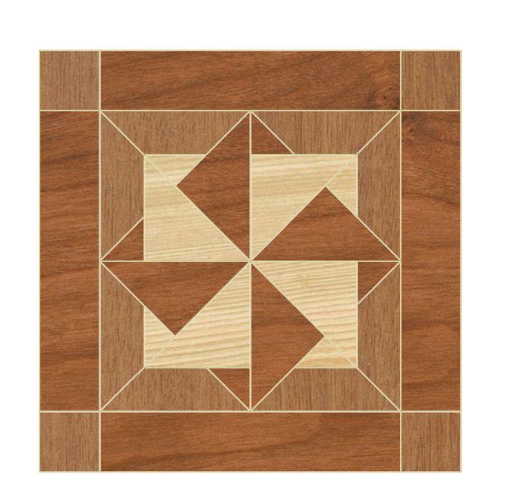 quilt patterns in woodworking | Quilt Block B Scroll Saw Woodworking pattern plan by OTB Patterns