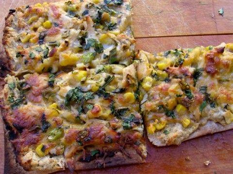 Chicken and Corn Flatbread | 11 PointsPlus #pizza #chicken #corn #weight #watchers