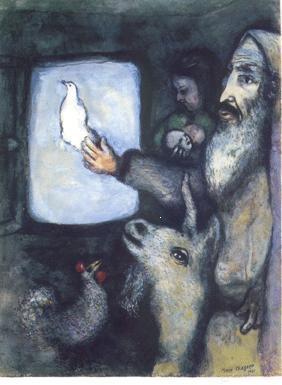 Marc Chagall. Ark van Noach. Meer kaarten van Chagall www.postersquare.com