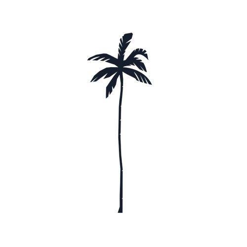 Palm tree temporary tattoo