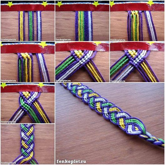 How to DIY Friendship Bracelet in Leaf Pattern