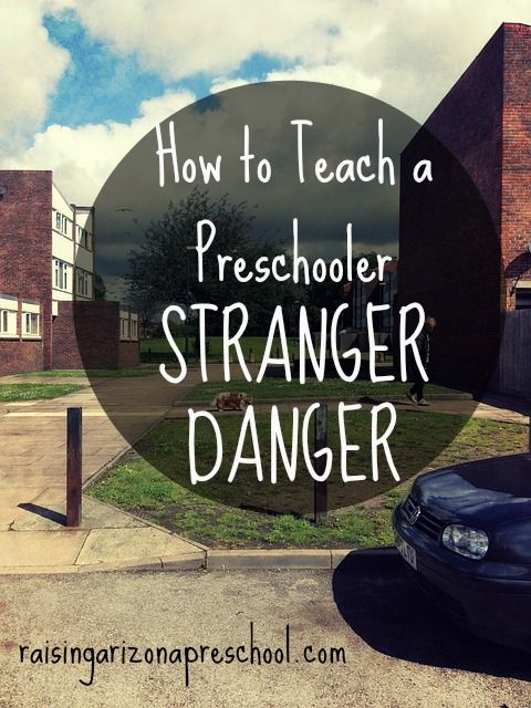 Teach a preschooler stranger danger