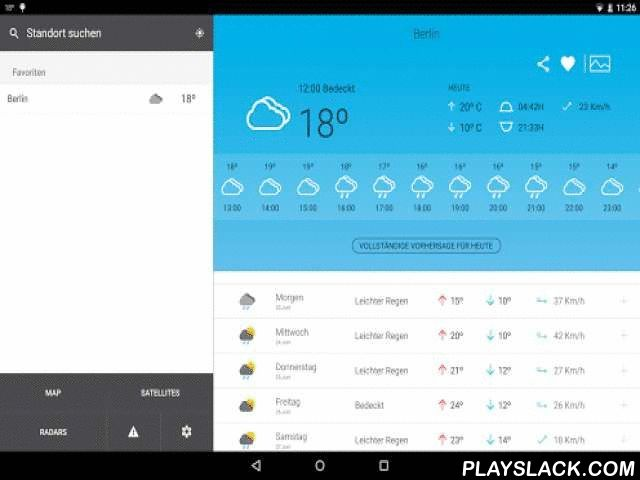 Weather In Germany 14 Days  Android App - playslack.com , Check the weather to 14 days for more than 20,000 locations in the Germany and 200,000 worldwide. It also provides information for ski stations.Hourly detailed forecast for today and tomorrow, detailed forecast every 3 hours during the rest of the week as well as a prediction for the next week.Very complete and easy to use application.Multiple weather variables are available:- Prediction symbol- Maximum temperatures, daily minimum and…