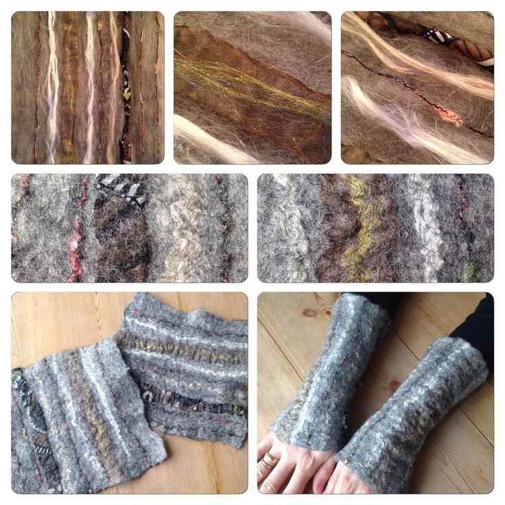 Felted wrist-warmers.