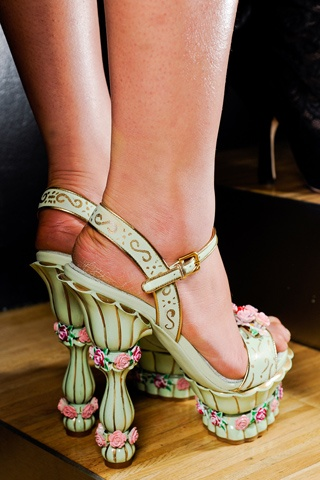 Dolce & Gabbana - they look beautiful,  but all women wearing very high heels make me laugh - mostly when walking in them.....