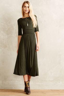 Jersey Midi Dress #anthrofave #anthropologie