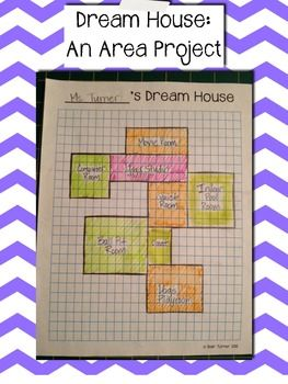 Dream House: An Additive Area Project (3rd Grade Common Common Core FREEBIE!)