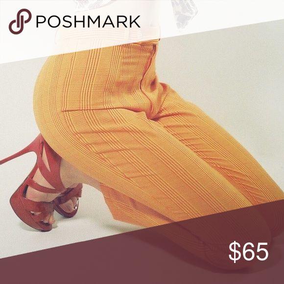 Vintage orange pants Worn once for a photoshoot. Size tag says medium but that is VINTAGE medium. Fits like a 2. Vintage Pants Capris