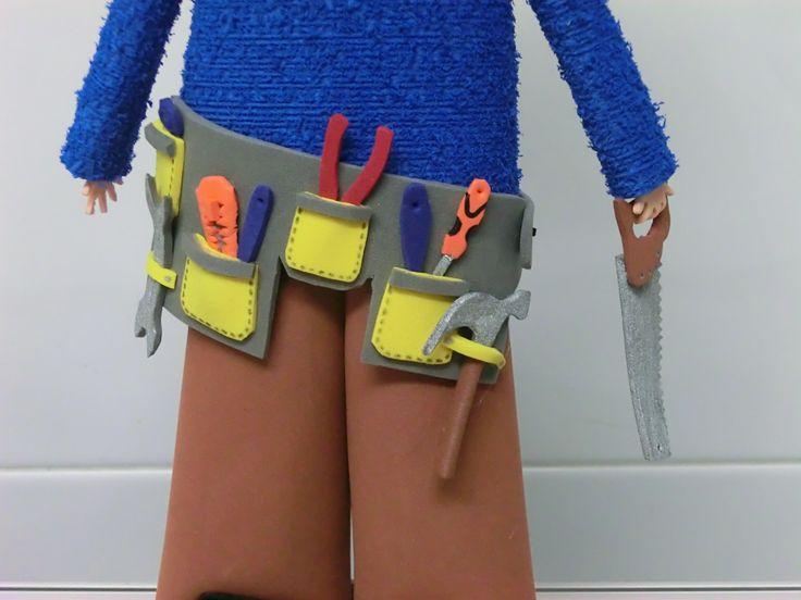 Cinturón herramientas carpintero - fofucha