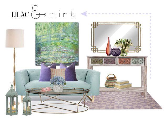 """Vintage mint"" by tati1984 on Polyvore featuring interior, interiors, interior design, home, home decor, interior decorating, Southern Enterprises, Trademark Fine Art, Arteriors and Nimbus"