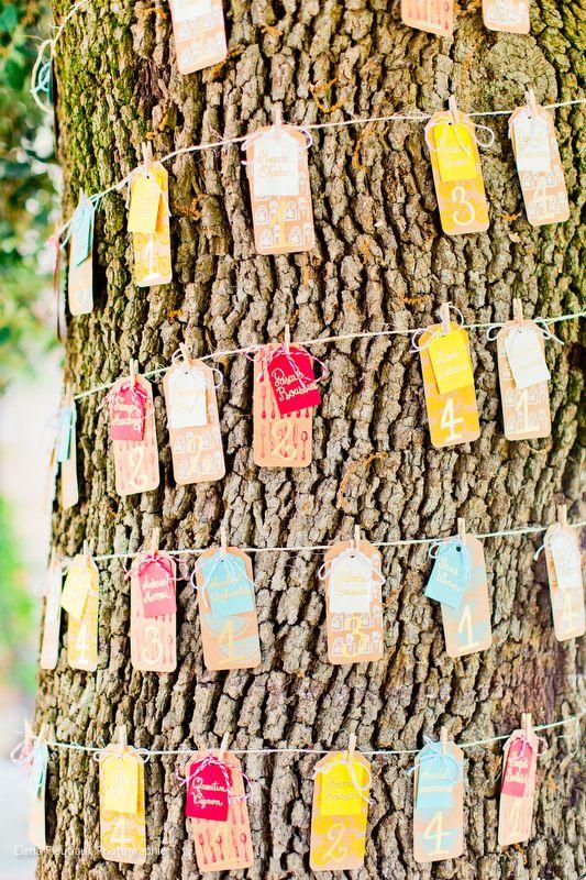 plan de table color arbre mariage champtre vintage color atelier du bonheur http - Ide Chanson Personnalise Mariage