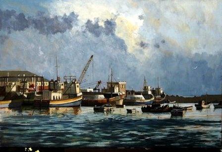 Lamberts Bay painted by SA artist John Smith