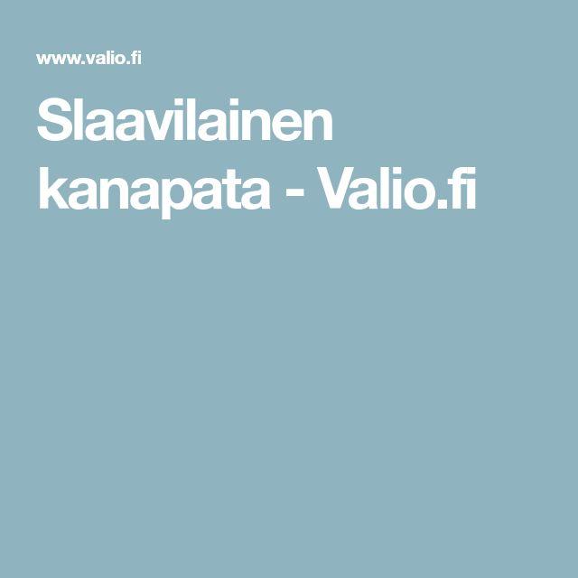 Slaavilainen kanapata - Valio.fi