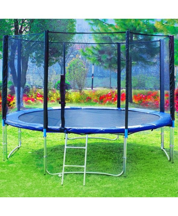 $275 10FT Spring Trampoline - Blue