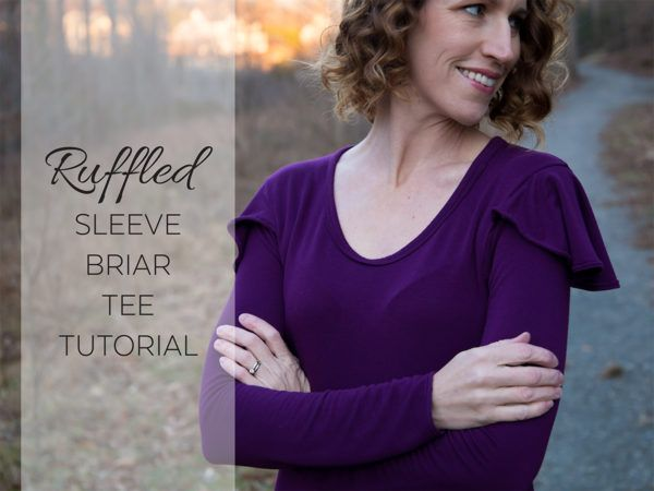 megan nielsen design diary: Ruffled Sleeve Briar Tee Tutorial