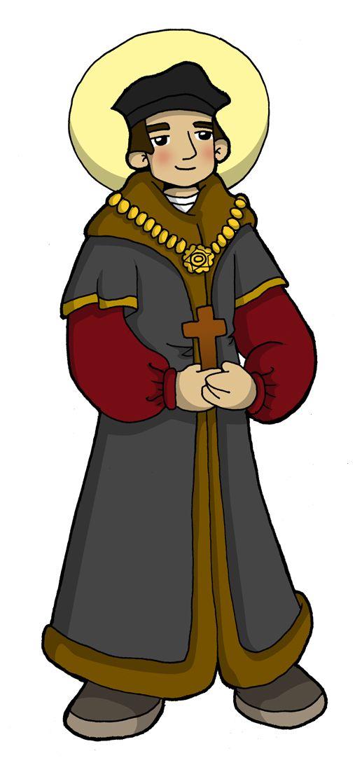 Fiesta: 22 de junio            Tomás Moro nació en Inglaterra en el año 1477. Completó sus estudios en Oxford; se casó y tuvo un hijo y tre...