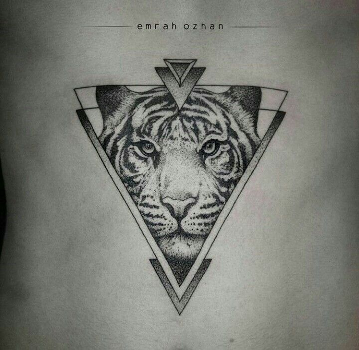 By Emrah Ozhan | #Blackwork #Tiger #BlackworkTattoo #Tattoo #Dotwork…
