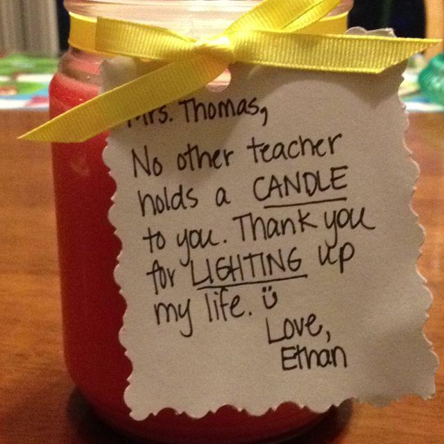 Teacher appreciation with Gold Canyon candle. melissagifford.mygc.com