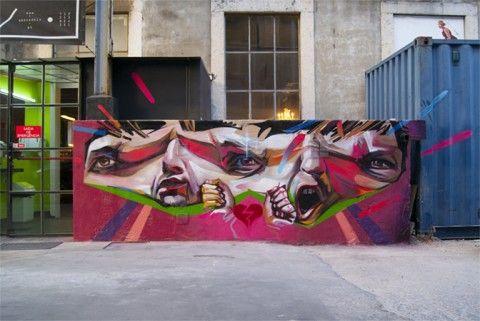 Mr Trazo – Amor vs Odio New Mural @ LX Factory, Lisboa, Portugal | Ozarts Etc