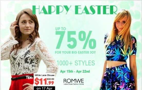 Beauty and the Mist - everything about beauty: Easter offer from Romwe and a coupon code for my readers