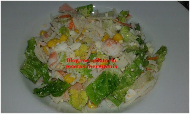 Recopilatorio de recetas thermomix: Ensalada con arroz basmati en thermomix