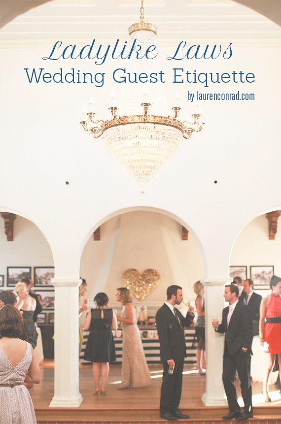 Ladylike Laws: Wedding Guest Etiquette