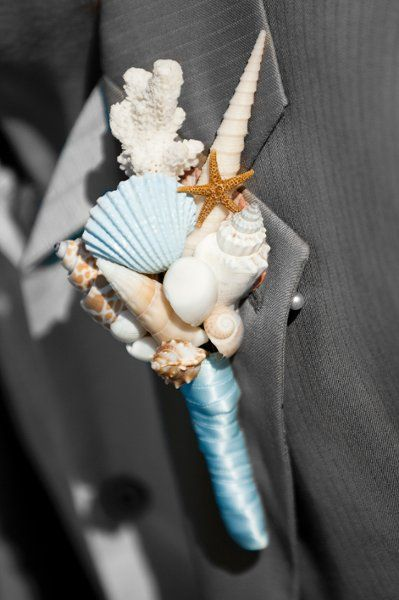 My Photo Album Wedding Flowers Photos on WeddingWire. Like the shells and ribbon color.