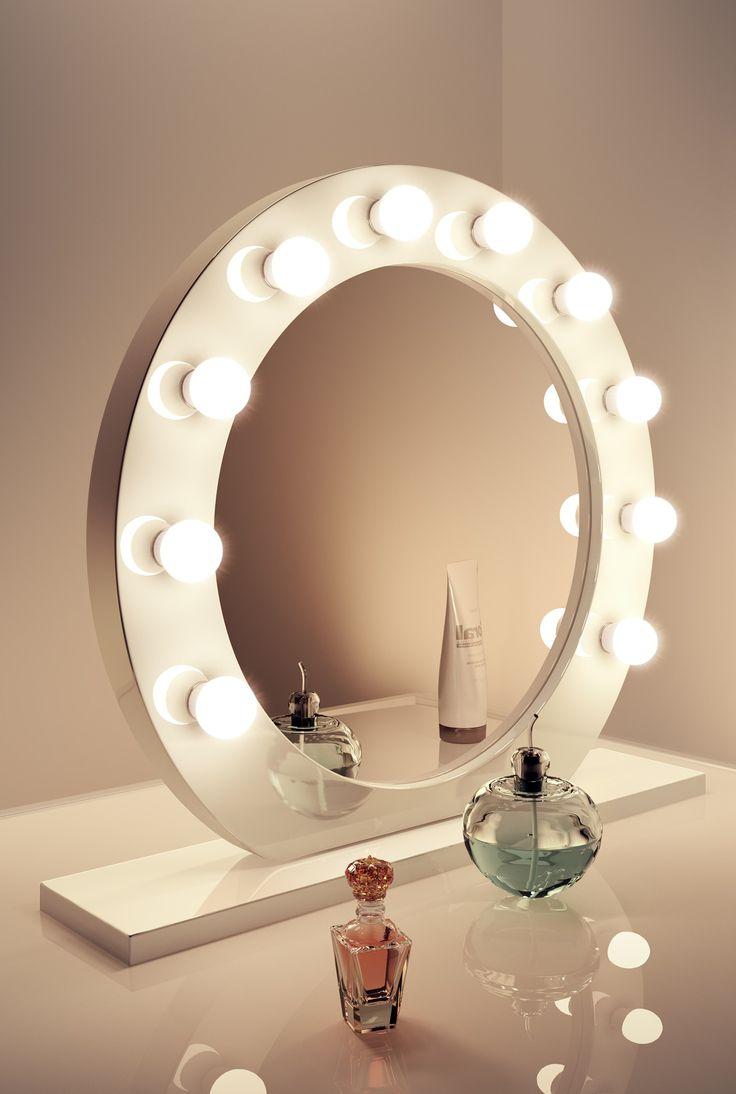 High Gloss White Mirror | | Dia:700mm x Depth:60mm - Illuminated Mirrors