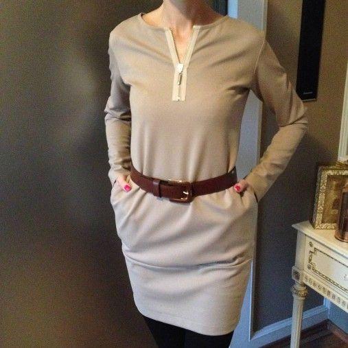 LuxuryCouture / Šaty s vreckami PIESKOVÉ
