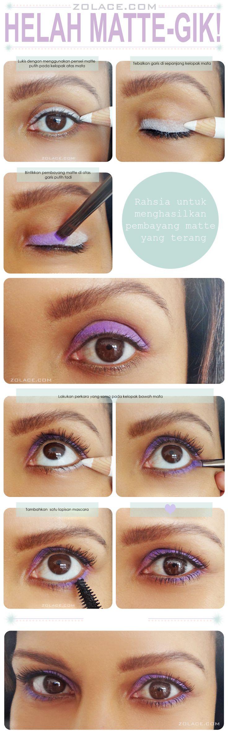 Make Up Mata Helah #Matte-Gik Menggunakan Celak Pensel Putih Secret to Making Matte Shadows Brighter