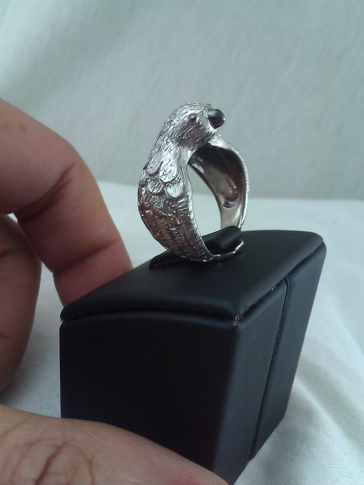 You know you want to buy this 👉 Bird Ring 925 Silver Handmade  White Gold Plating - Free International Shipping https://www.etsy.com/listing/515396098/bird-ring-925-silver-handmade-white-gold?utm_campaign=crowdfire&utm_content=crowdfire&utm_medium=social&utm_source=pinterest