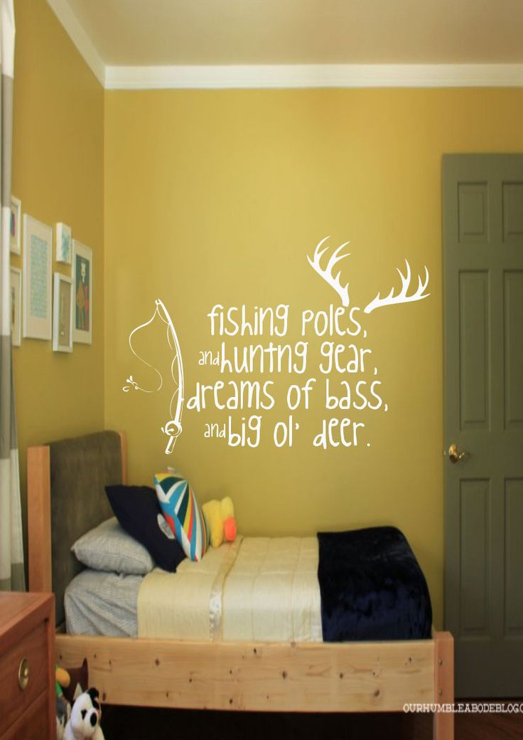 Fishing Poles U0026 Hunting Gear   Hunting   Fishing   Nursery   Boys Bedroom    Home Decor   Gift Idea   Bedroom   High Quality Vinyl Graphic By EmmaEmu2026