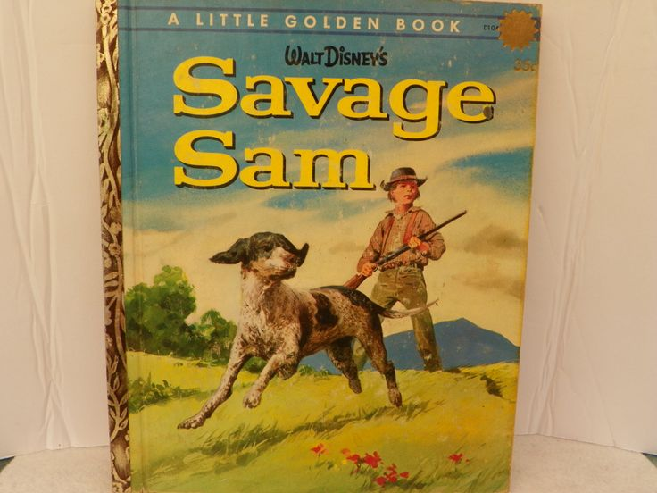 Little Golden Book D104 First Edition 1963 - Walt Disney's Savage Sam - Vintage Children's Story Picture Book Kid's Bedtime Story by ShersBears on Etsy