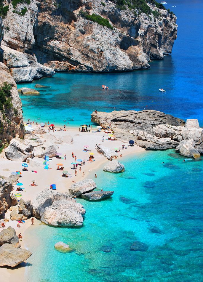 Cala Mariolu in Sardinia, Italy - 18 beaches in Europe that will make your draw drop