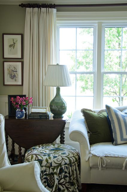 Gracious Farmhouse: Living Room Wall Color: Mexican Feather Grass from Ralph Lauren.