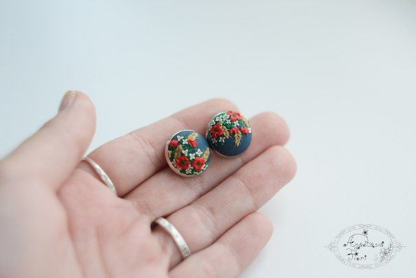 ukrainian style, Ukraine, puppy earrings, filigree earrings, filigree pattern, tenderness, beautiful earring, handmade earrings, flowers earrings, flower, polymer clay, flower inspiration